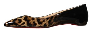 Christian Louboutin New Black & Leopard Flats