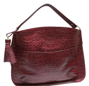 Talbots Leather Brick Red Burgundy Satchel