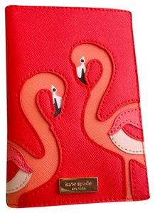 Kate Spade Passport Leather Flamingo Pink Travel Bag