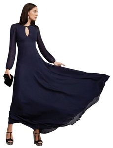 Reformation Eco-friendly Maxi Sheer Fitted A-line Dress