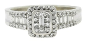 Other Antique Princess And Baguette Diamond Ring- 14k White Gold