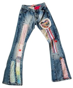 Kosiuko Jeans Flare Leg Jeans-Light Wash