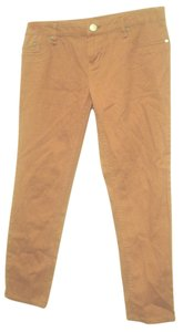 Willi Smith Color Cotton Stretch Casual 2 Xs Skinny Pants Rust