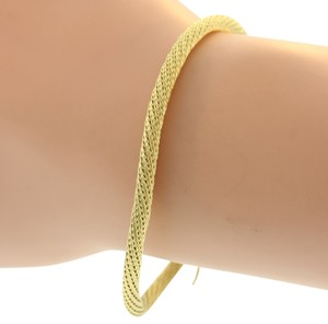 Other Mesh Cable Structured Bracelet- 14k Yellow Gold