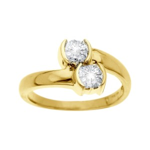 Finecraft FINECRAFT 1 ct Duo Diamond Ring