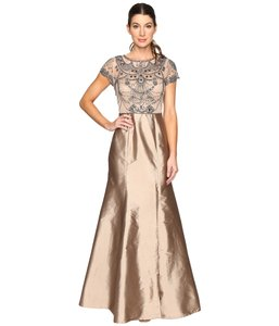Adrianna Papell Embellished Ball Gown Gown Taffeta Dress