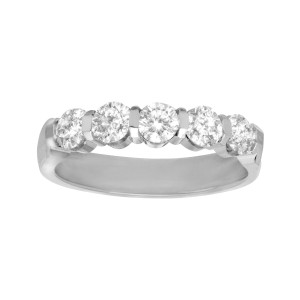 Finecraft FINECRAFT 1 ct Channel Diamond Band Ring