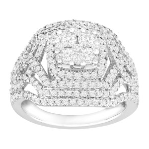 Finecraft FINECRAFT 1 1/2 ct Diamond Cocktail Ring