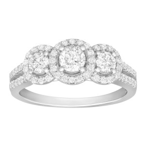 Finecraft FINECRAFT 1 ct Diamond Three-Stone Ring