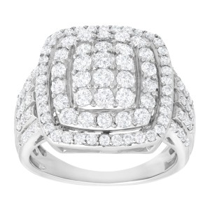 Finecraft FINECRAFT 2 ct Diamond Cushion Ring