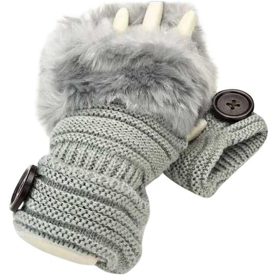 Preload https://img-static.tradesy.com/item/20376565/gray-knitted-fur-trimmed-fingerless-button-accent-gloves-0-1-540-540.jpg