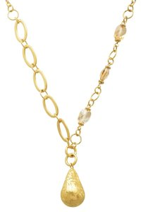 Finecraft FINECRAFT Citrine Drop Link Necklace