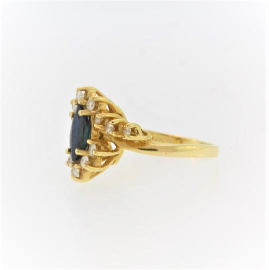 Other Marquise Cut Sapphire And Diamond- 14k Yellow Gold Image 2