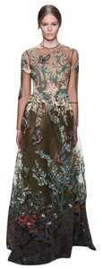 Valentino Couture Bird Applique Ciffon Dress