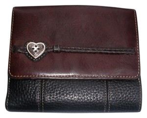 Brighton Compact Two Tone Heart ID Credit Card Wallet
