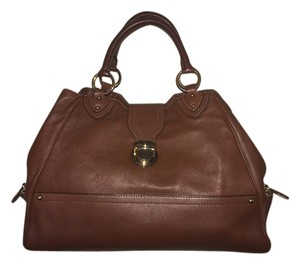 Marc Jacobs Handbag Designer Handbag Nwt Satchel in Brown Calf Leather