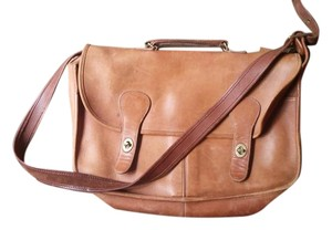 Coach Leather Briefcase Messenger Musette Brown Messenger Bag