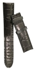 Montblanc Black crocodile-style 22 mm leather strap for Mont Blanc watches