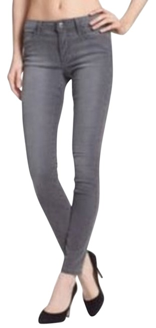 Item - Deep Silver Coated Ankle Skinny Jeans Size 27 (4, S)