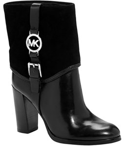MICHAEL Michael Kors Monogram Black leather and Suede Boots