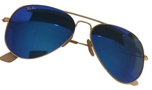 Ray-Ban RAY-BAN AVIATOR RB 3025 GOLD with BLUE MIRROR LENS