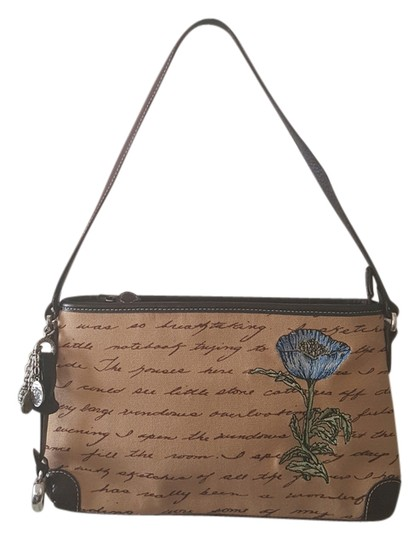 Preload https://img-static.tradesy.com/item/20376961/brighton-writing-and-handicraft-flower-design-browntan-leather-clutch-0-1-540-540.jpg