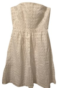 Banana Republic Sleeveless Eyelet Strapless Cocktail Dress