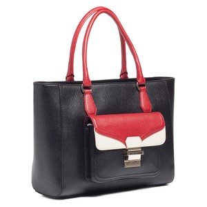 Moschino Tote in Black/Red/Ivory