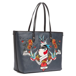 Moschino Tote in Midnight Black