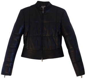 Armani Collezioni Leather Quilted Leather Jacket