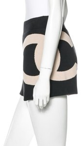 Chanel Interlocking Cc Logo Monogram Shorts Embroidered Top White, Black
