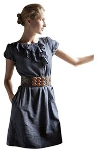 Anthropologie short dress Maeve Denim Ruffle Cap Sleeve on Tradesy