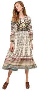 Maxi Dress by Anthropologie Bhanuni Beaded Floral Midi