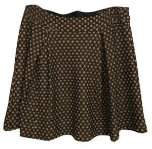 Nanette Lepore Tan Lace Overlay Detailed Pretty Mini Skirt brown