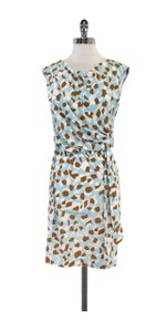 Diane von Furstenberg short dress Printed Gathered Waist on Tradesy