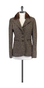 Carlisle Brown Tweed Wool & Fur Collar Jacket