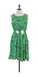 Samantha Pleet short dress Green Twist Cutout on Tradesy