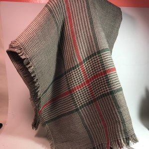 Gucci Gucci 318868 scarf gray green red 135 cm square