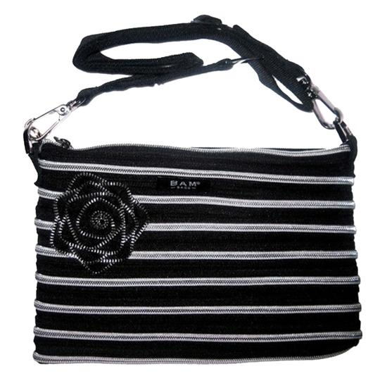 BAM BAGS Evening And Silver Travel Cross Body black Clutch
