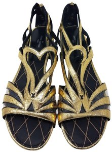48b383584e9 Louis Vuitton Metallic Hardware Gladiator Lv Ankle Strap Gold