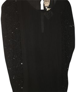 Haute Hippie Sequin Top black