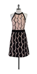 3.1 Phillip Lim short dress Pink & Black Print Cotton Sleeveless on Tradesy