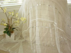 Ivory Sequin Table Cloth/ Suw-04 Tablecloth