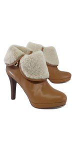 Brooks Brothers Tan Leather Faux Fur Boots