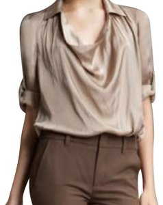 Vince Cowl Neck Taupe Top