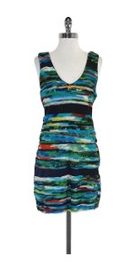 Rag & Bone short dress Water Color Print Fringed on Tradesy