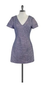 Rebecca Minkoff short dress Blue & White Metallic Tweed on Tradesy