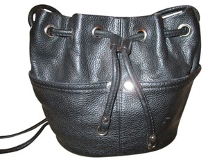 Tignanello Leather Drawstring Cross Body Bag