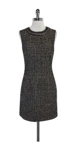 Laundry by Shelli Segal short dress Black Grey Tweed Sleeveless on Tradesy