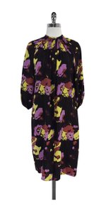 Tucker short dress Multi Color Floral Print Silk Long Sleeve on Tradesy
